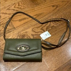 NWT small olive purse/clutch
